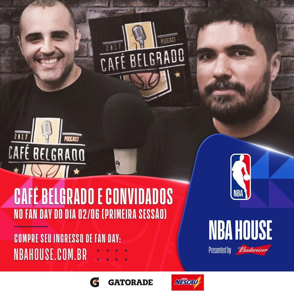 Guilherme Tadeu de Paula e Lucas Nepomuceno, do Café Belgrado, na NBA House