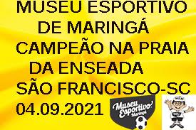 Excursão do Museu Esportivo para São Francisco do Sul-SC em setembro de 2021, equipe master do MEM foi campeão do torneio na Praia da Enseada