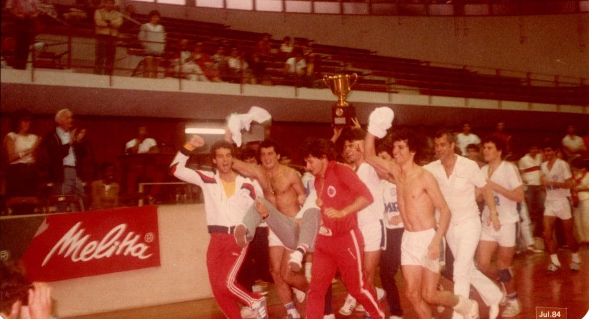 Clube Olímpico de Maringá, campeão da Taça Brasil de  Handebol, 1984. Esporte Clube Sírio, São Paulo