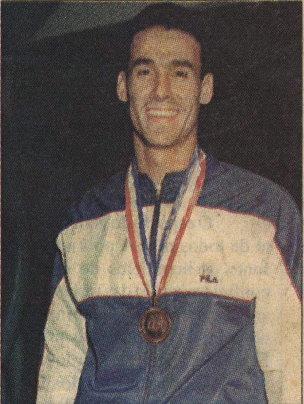 A fera do taekwondo, Lúcio Aurélio, em 1995, em Manila, nas Filipinas