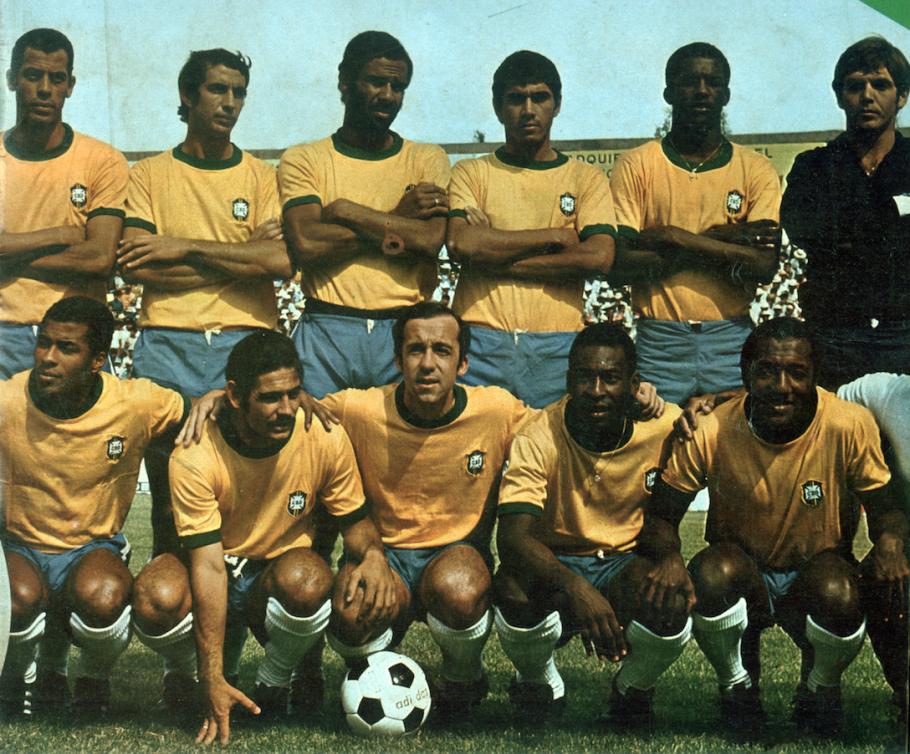 Seleção brasileira de 1970, tricampeã no México. Ado, Marco Antonio e Paulo Cézar Lima não eram titulares.