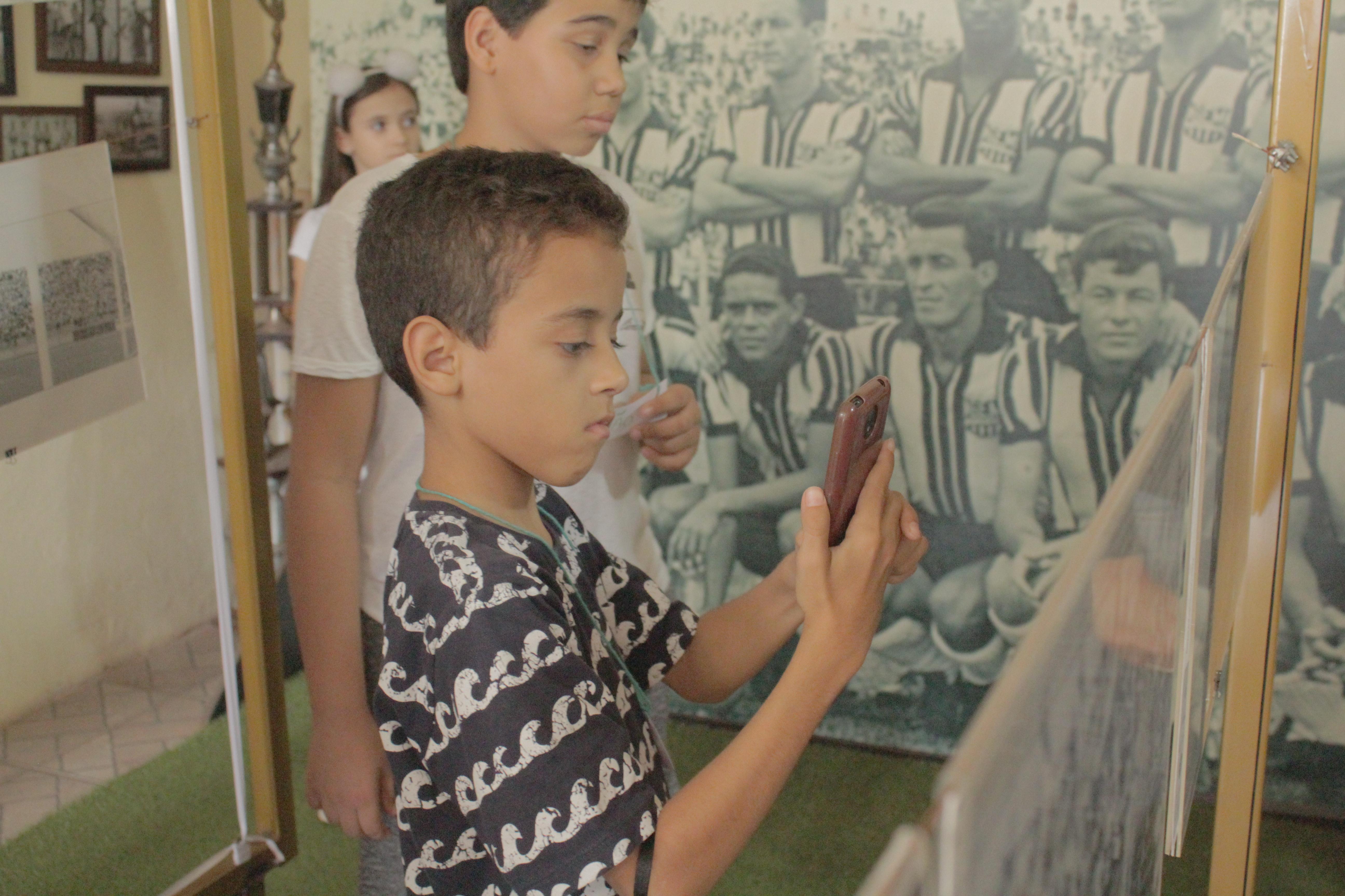 Alunos do CAC - Centro de Ação Cultural visitam o Museu Esportivo