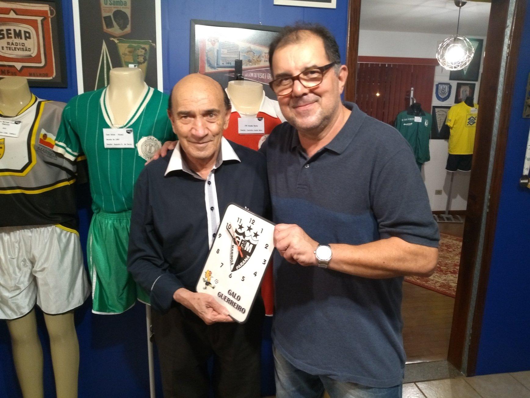 Relógio do Grêmio Maringá doado pelo jornalista Verdelírio Barbosa