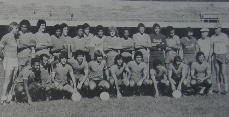 Seleção Paranaense que jogou contra a seleção brasileira em 1978