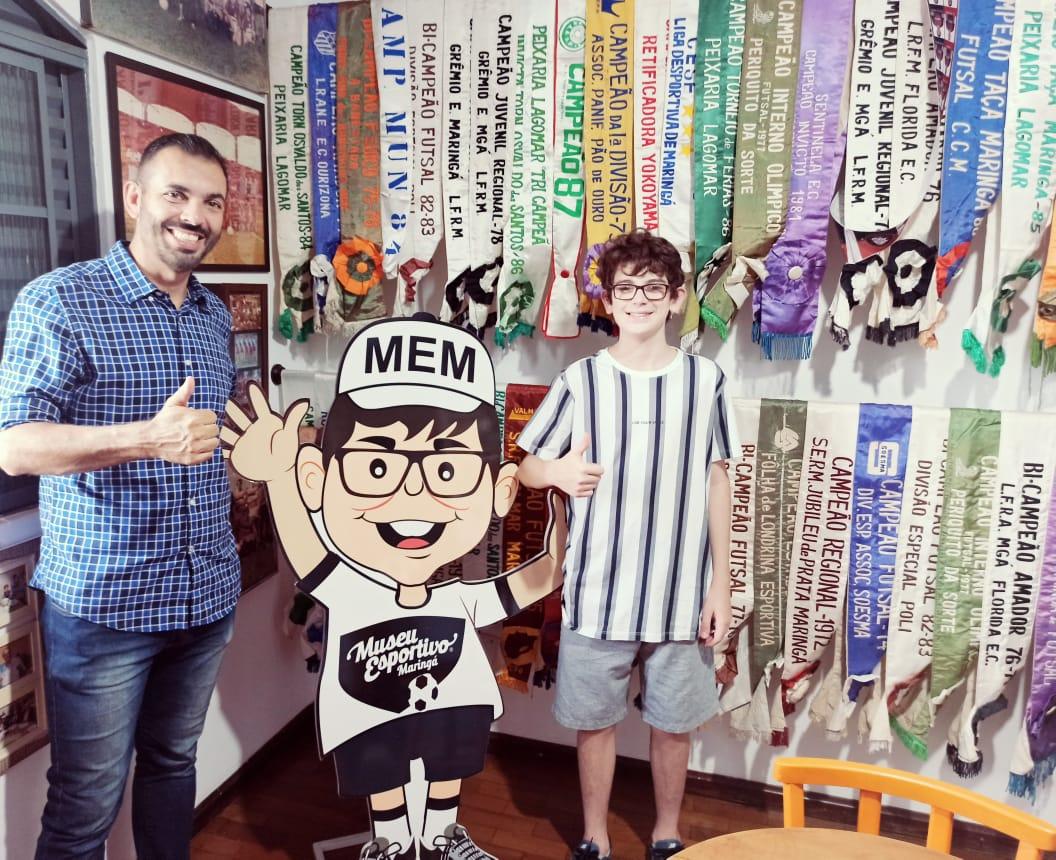 Museu Esportivo de Maringá recebe de Herivelton Freitas  relíquias do Grêmio Esportivo Maringá e Grêmio de Esportes Maringá