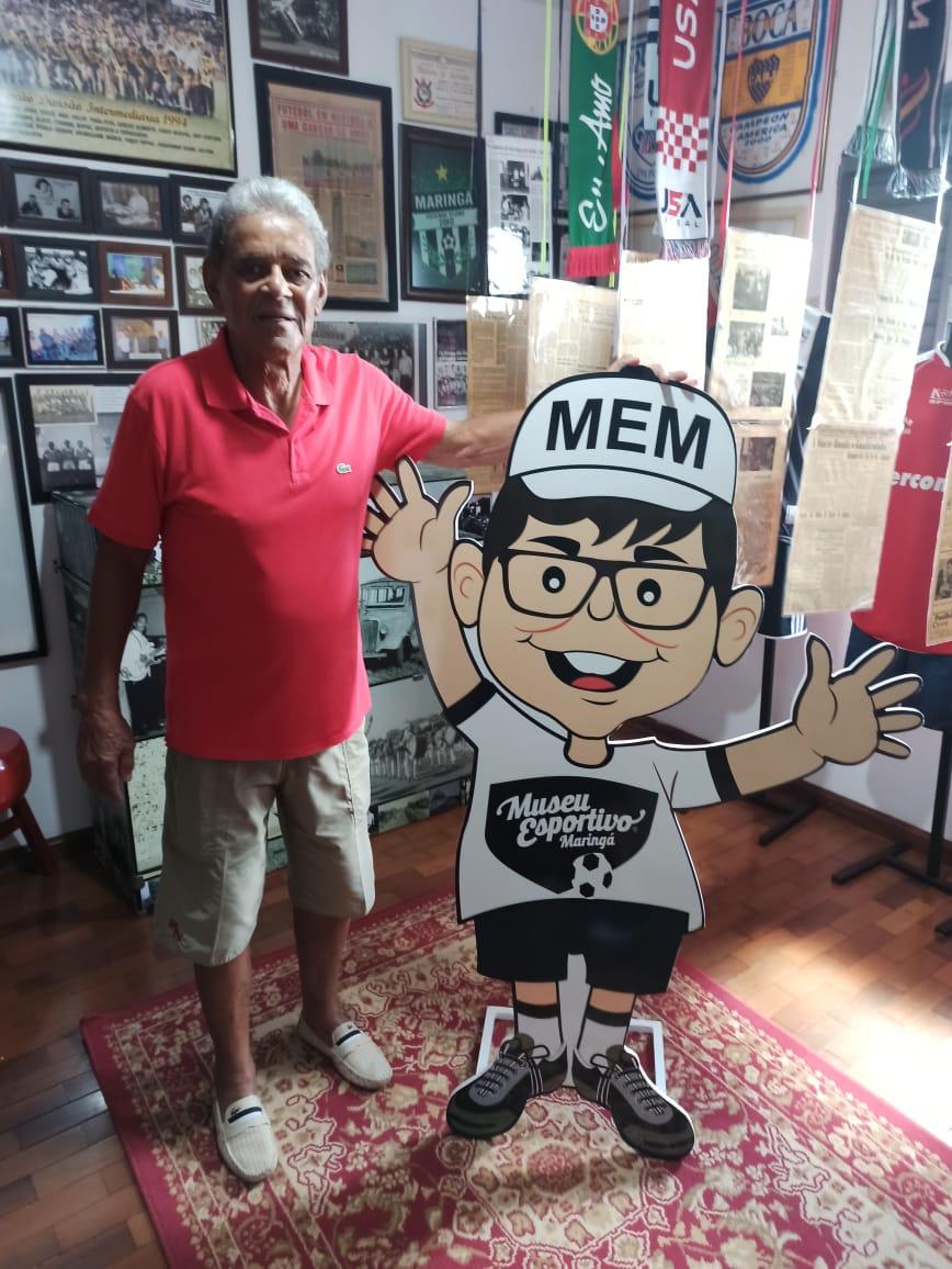 O dia em que a lenda Edgard Belisário esteve no Museu Esportivo de Maringá
