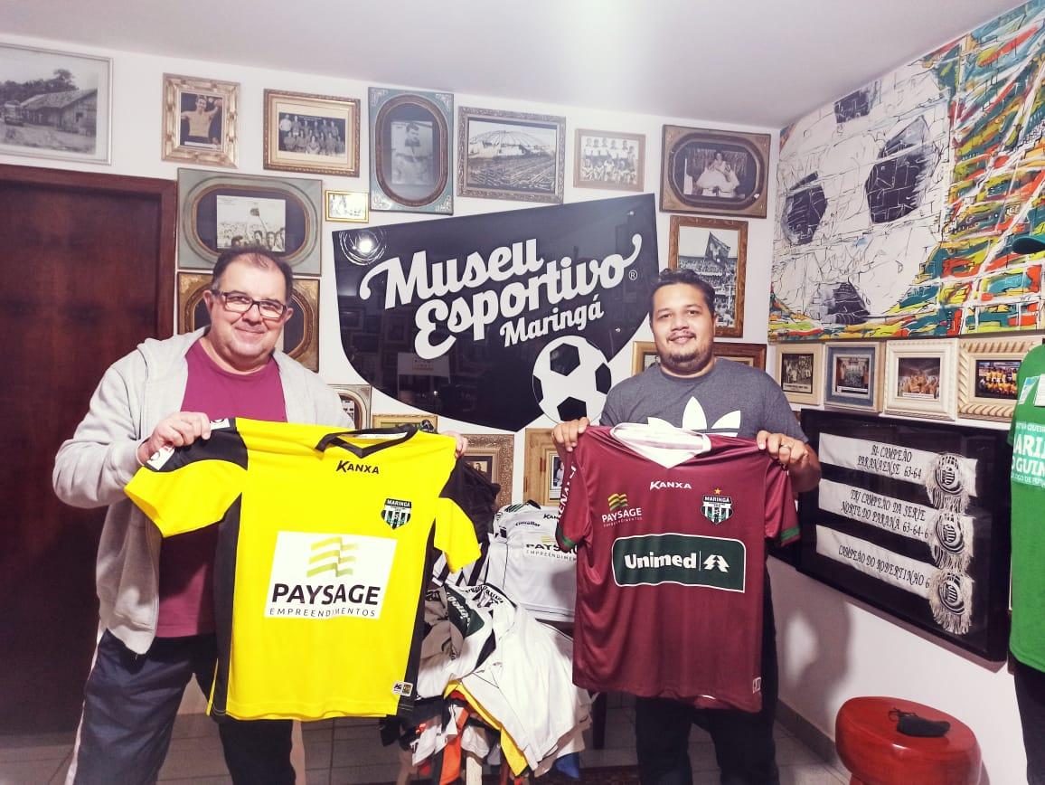 As 62 camisas que contam a história do Maringá Futebol Clube doadas ao Museu Esportivo de Maringá.